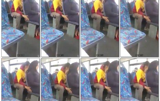فيديو لمراهق مصري يتحرش بطيز محجبة في الأتوبيس